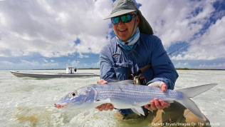Flyfisherman with bonefish.